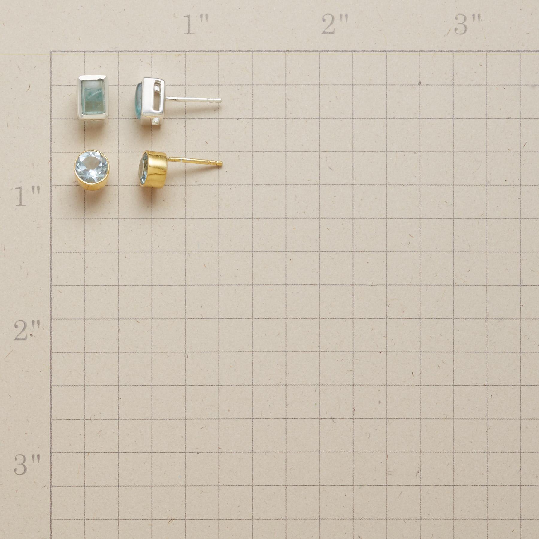 BLUE DUO EARRING SET: View 2