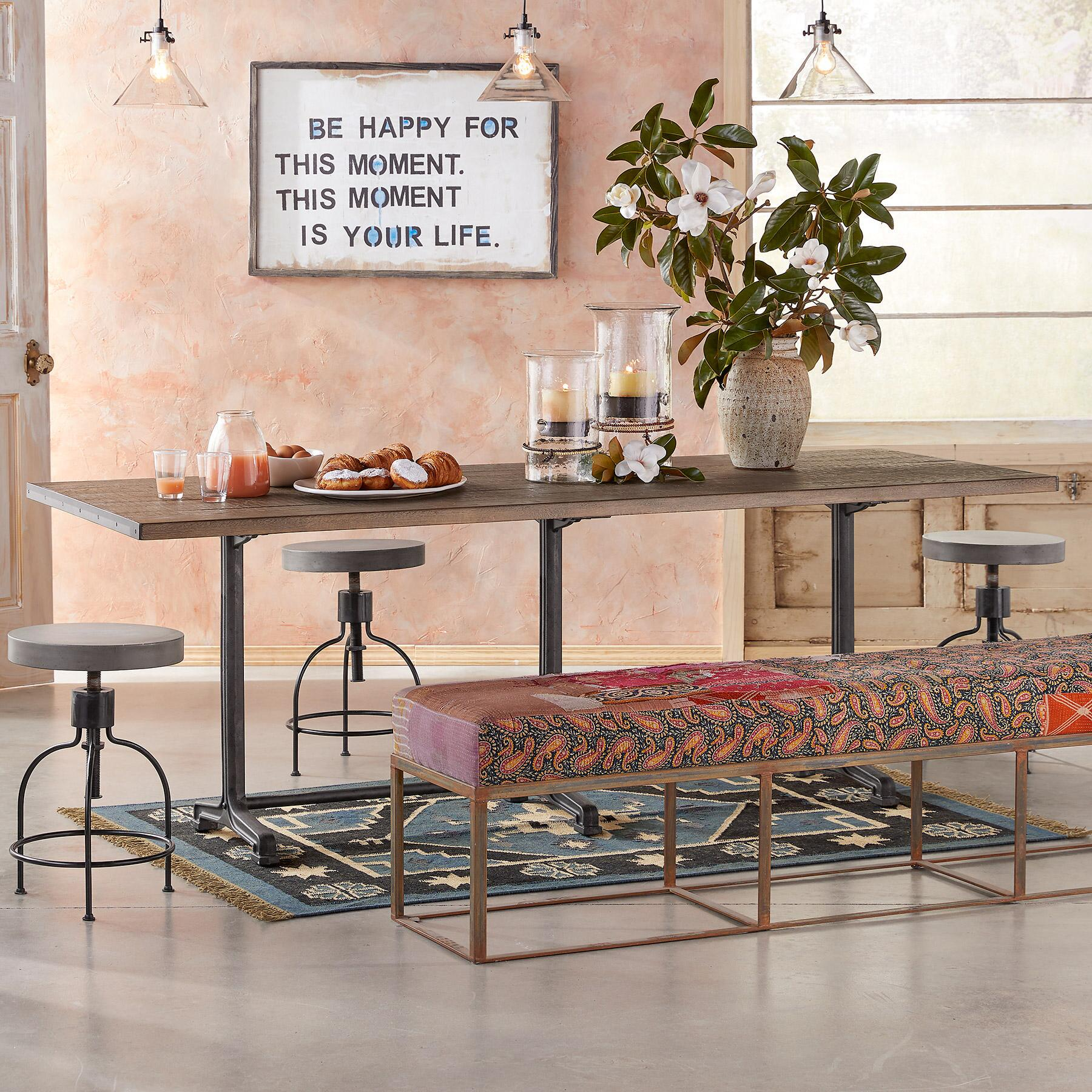 HAYES TRESTLE DINING TABLE: View 1
