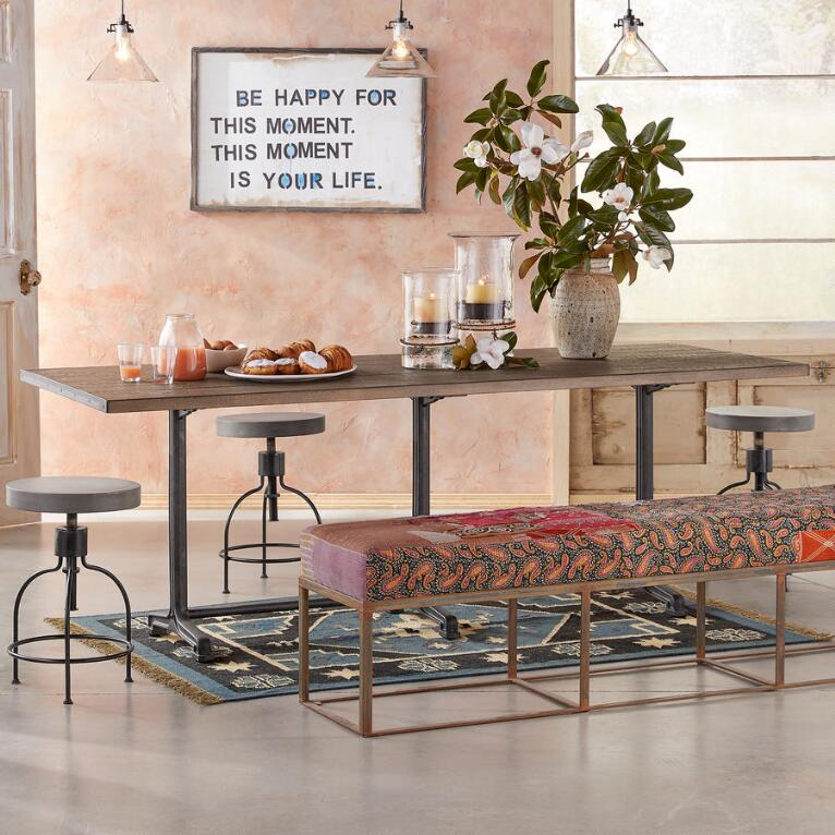 HAYES TRESTLE DINING TABLE