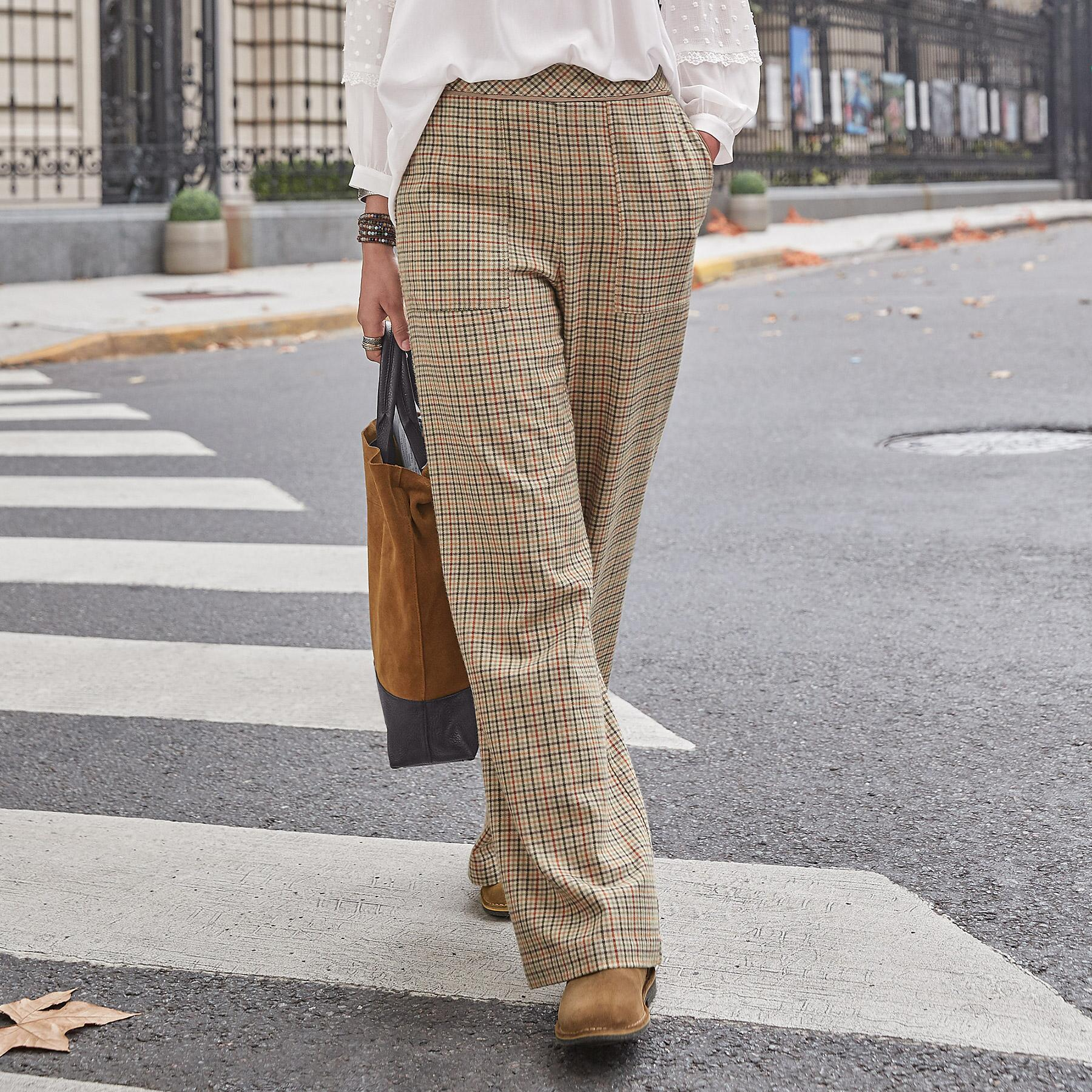 BREWSTER PLAID PANTS: View 1