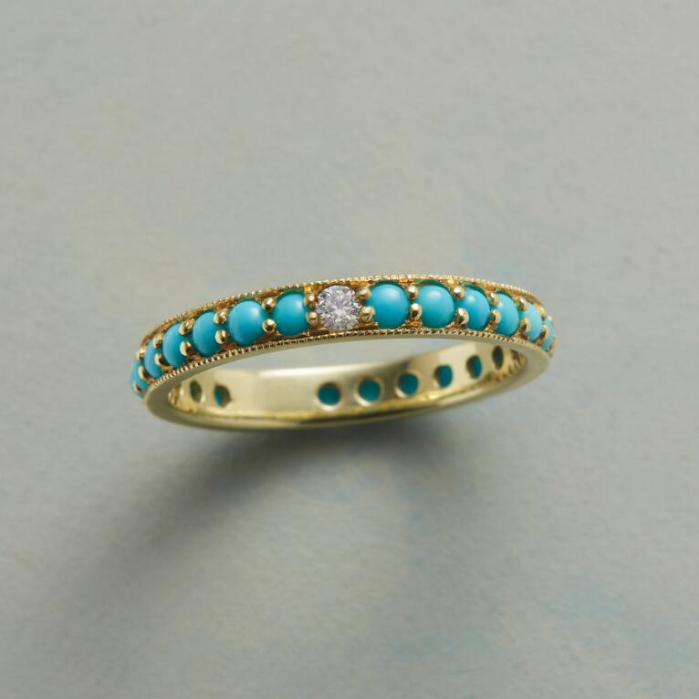 TURQUOISE AND DIAMOND BAND