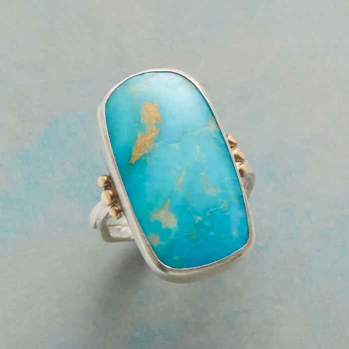 SCULPTED TURQUOISE RING