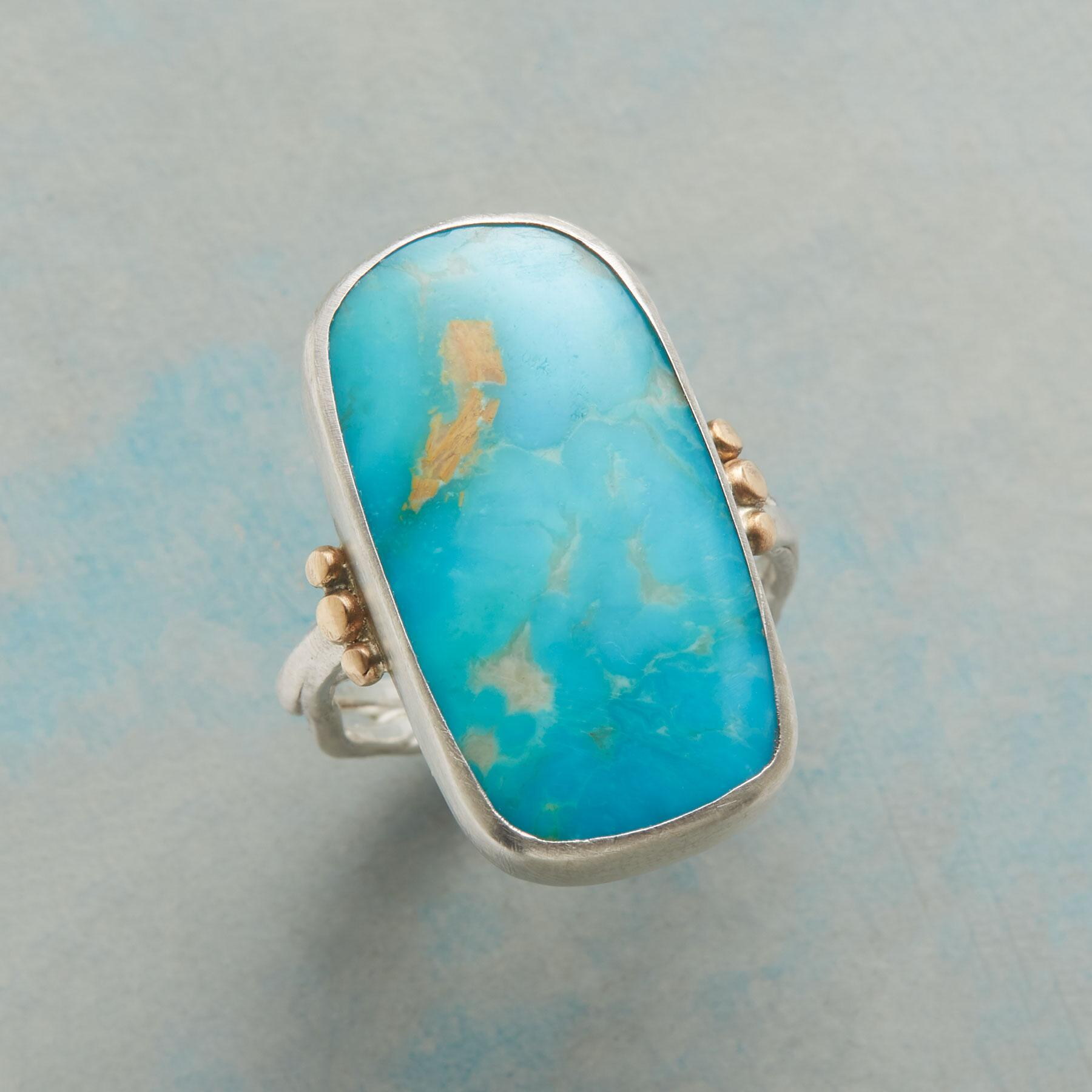 SCULPTED TURQUOISE RING: View 1