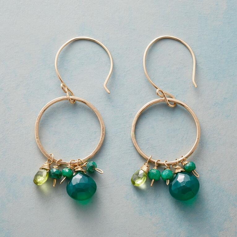 GREEN ENSEMBLE EARRINGS