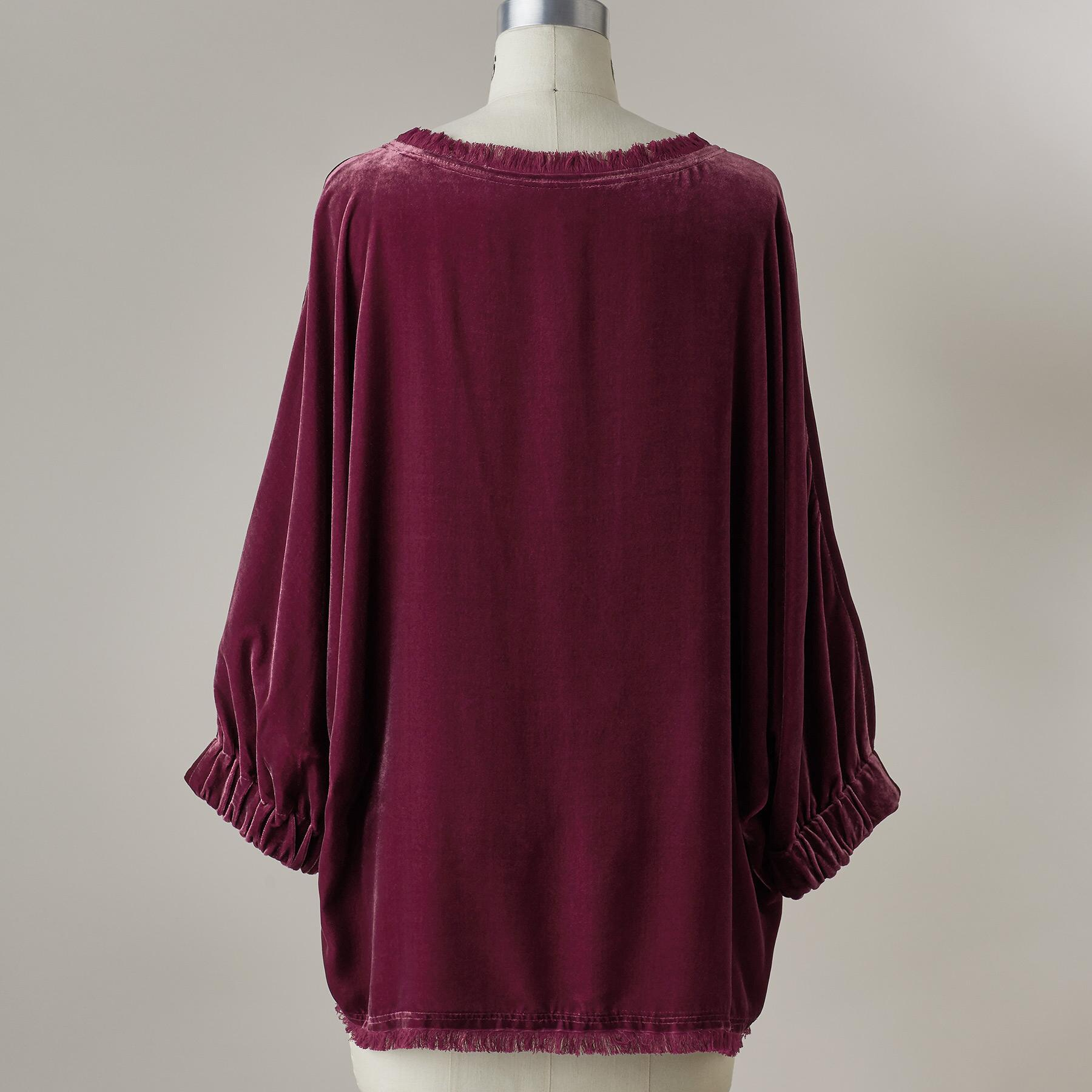 ALANNAH VELVET TOP: View 3