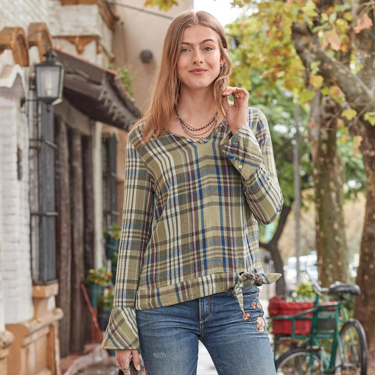 WILLOW PLAID TOP