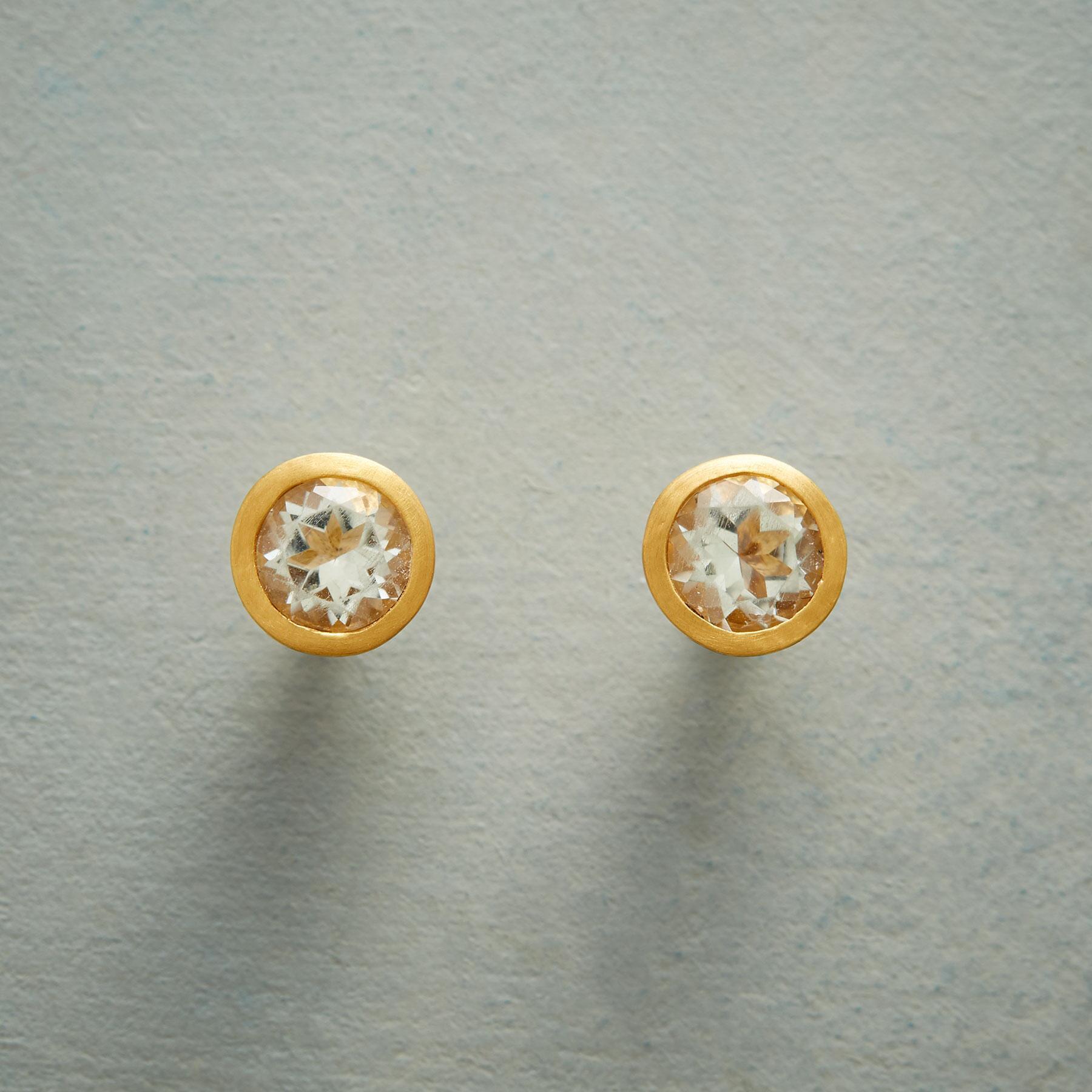 CUPPA GREEN AMETHYST EARRINGS: View 1