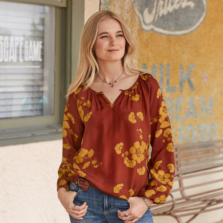 SILK IN BLOOM TOP