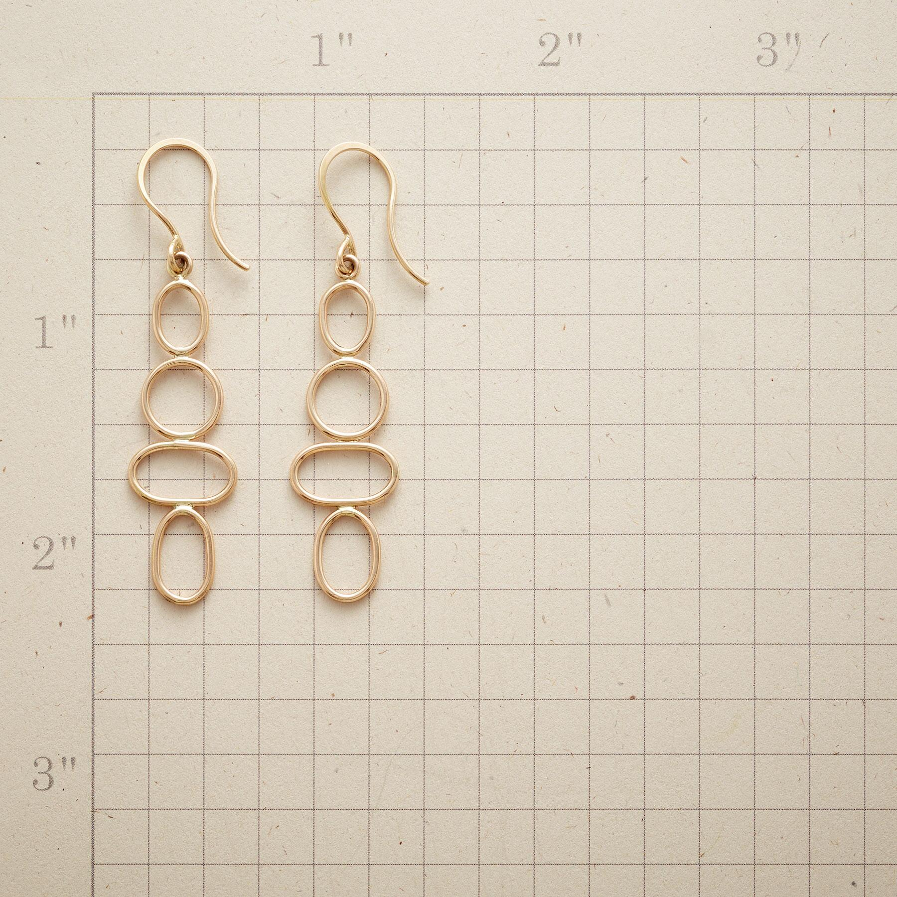 EUCLID'S GOLD EARRINGS: View 2