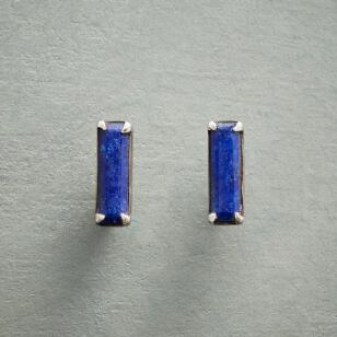 LAPIS BAR EARRINGS