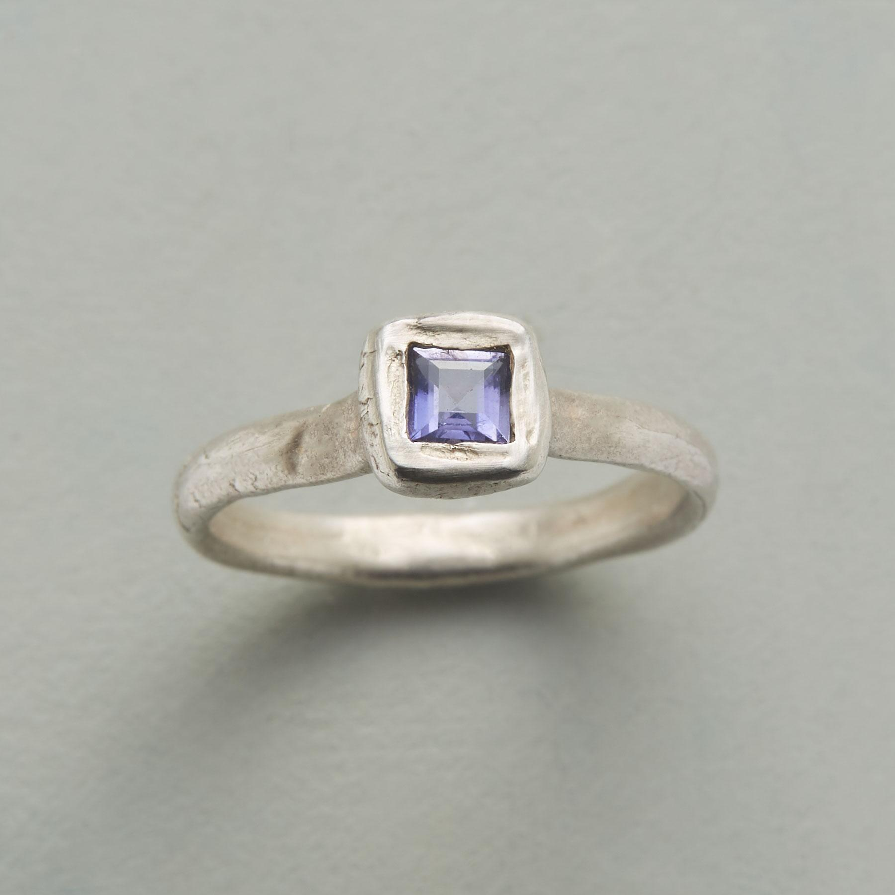 LIGHT OF IOLITE RING: View 1