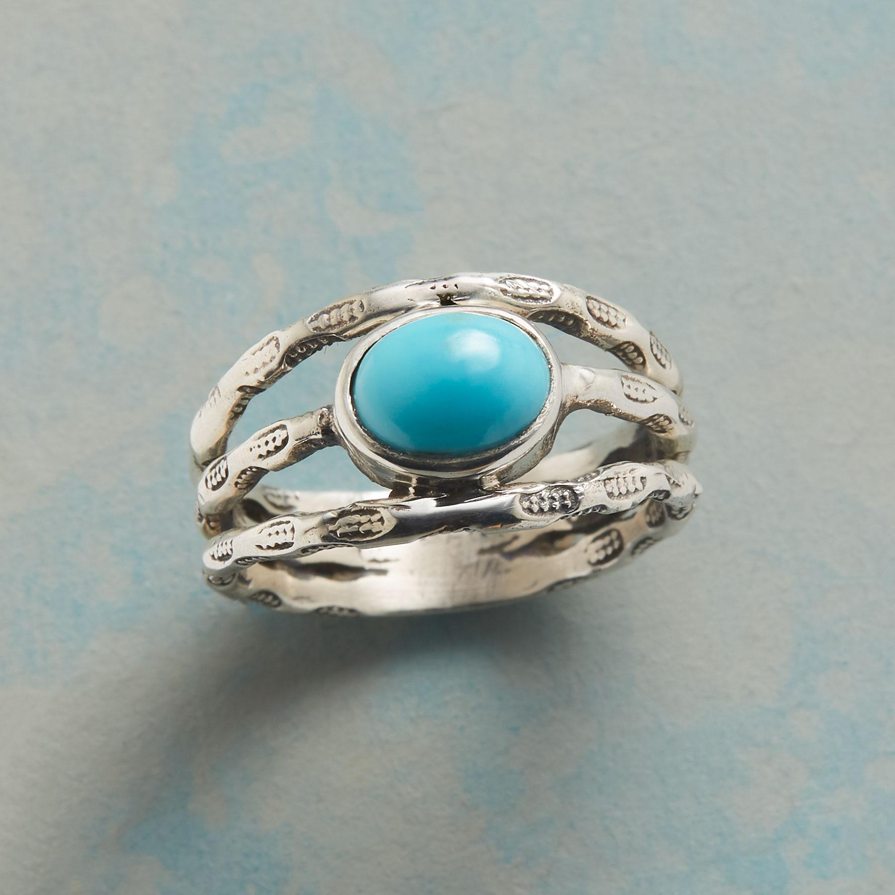 TURQUOISE THREE PART RING: View 1