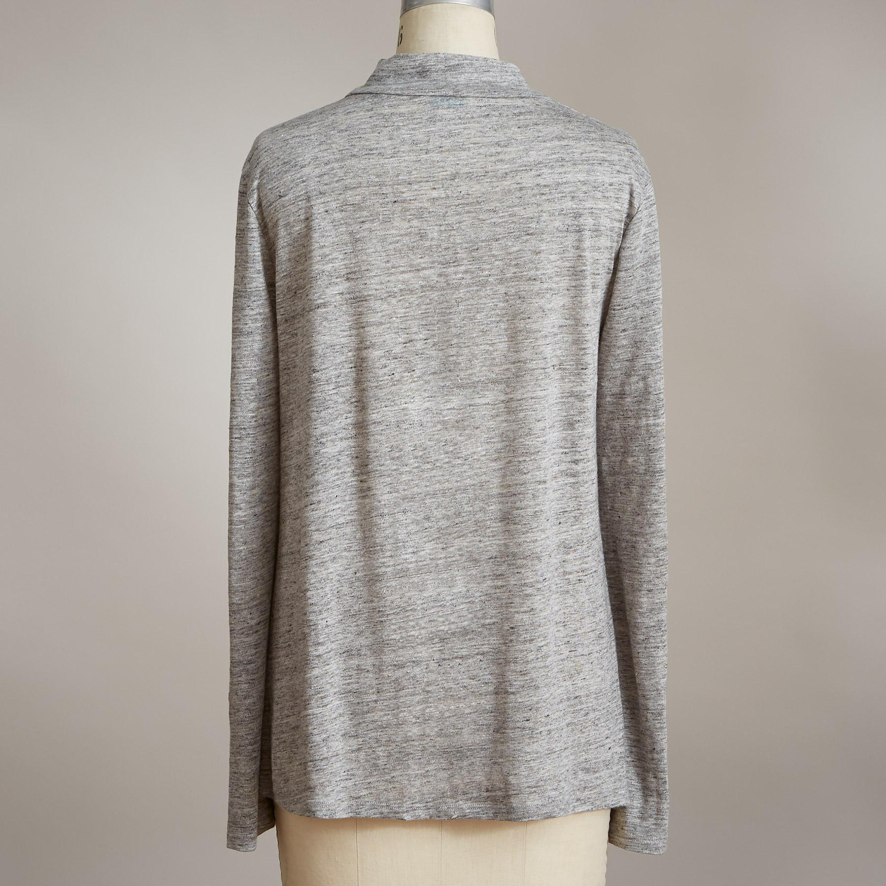 PURIST LINEN TOP: View 3