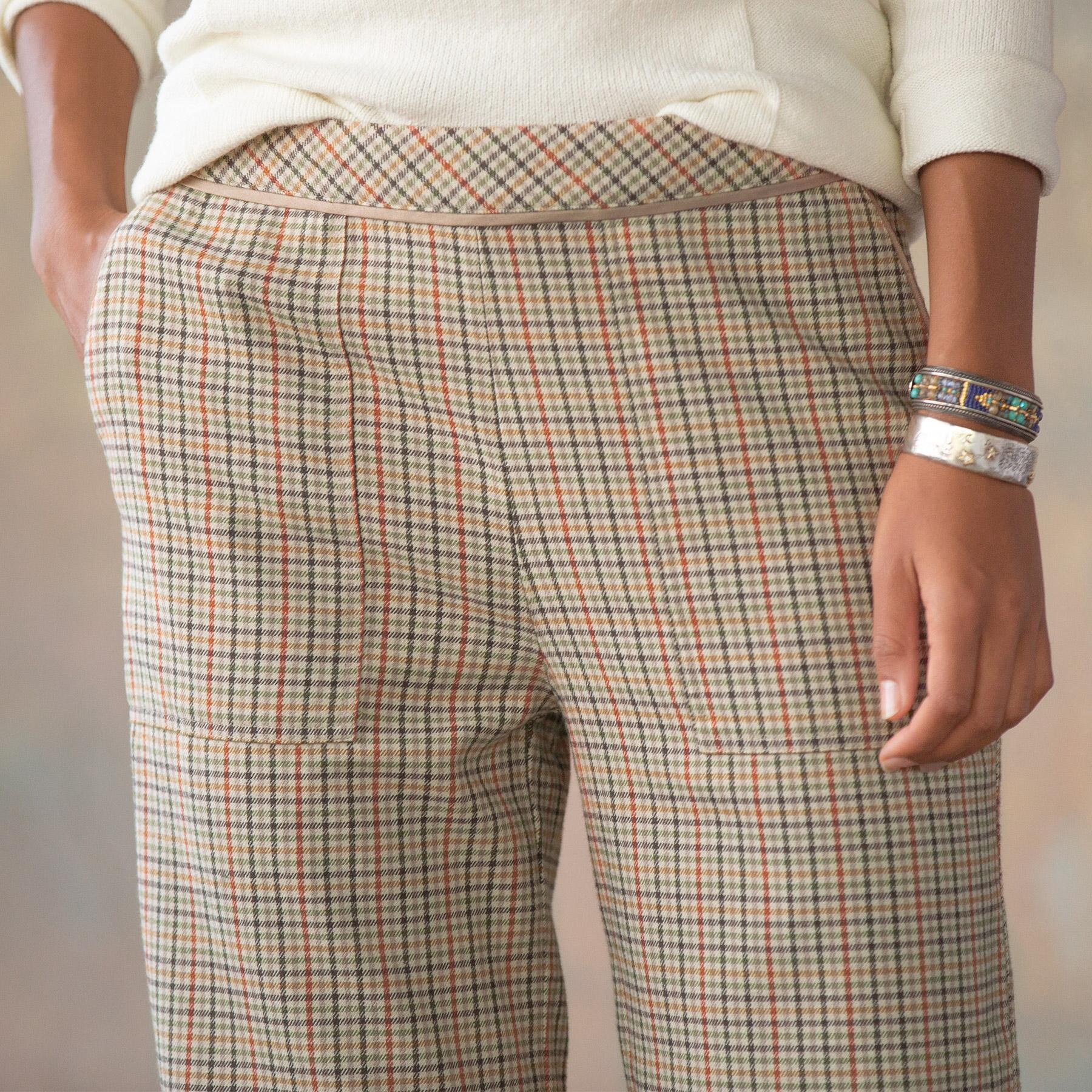 BREWSTER PLAID PANTS PETITE: View 4