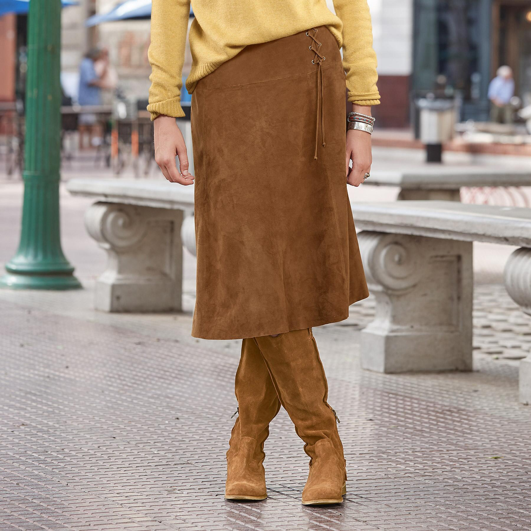 SUEDE DELIGHT SKIRT PETITE: View 1