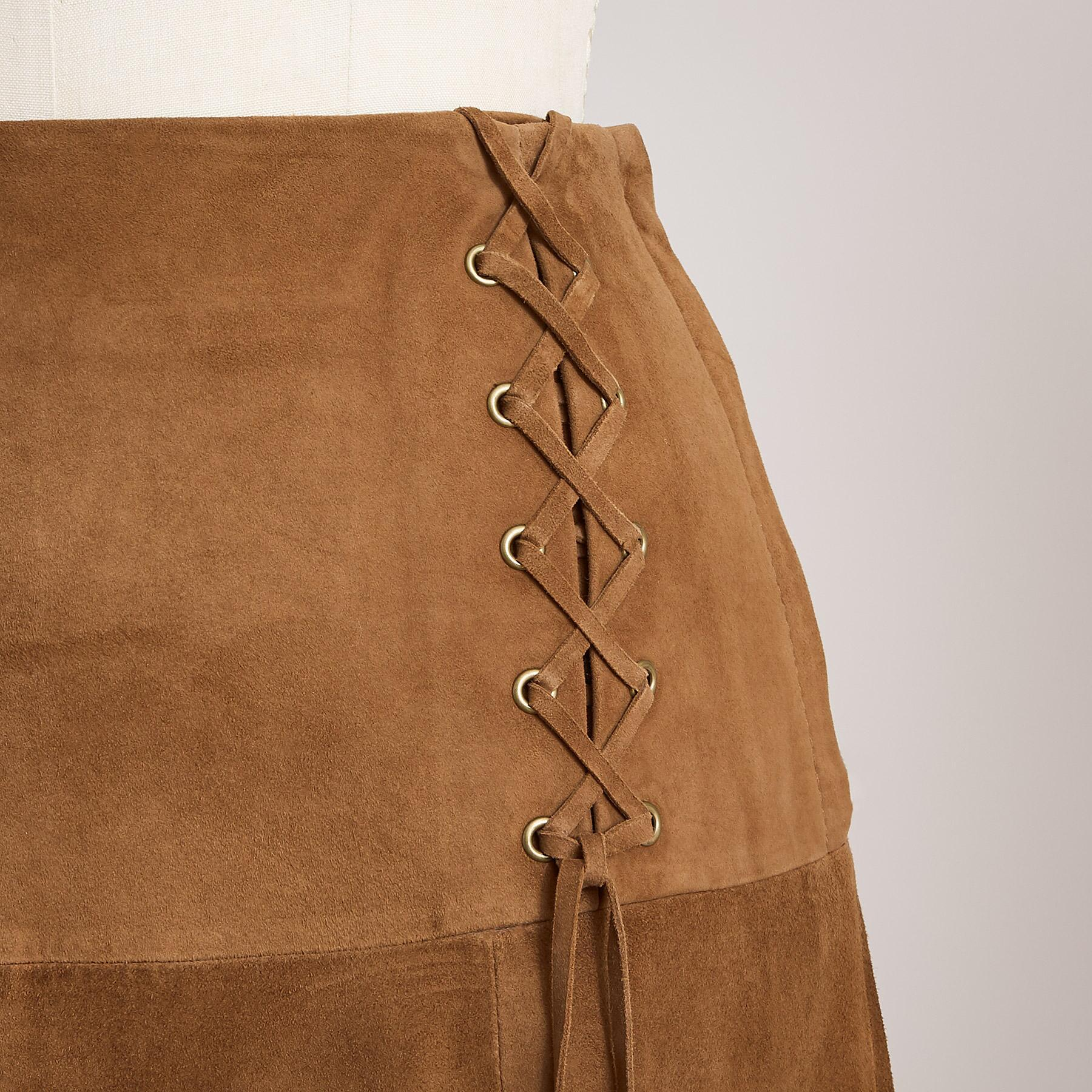 SUEDE DELIGHT SKIRT PETITE: View 4