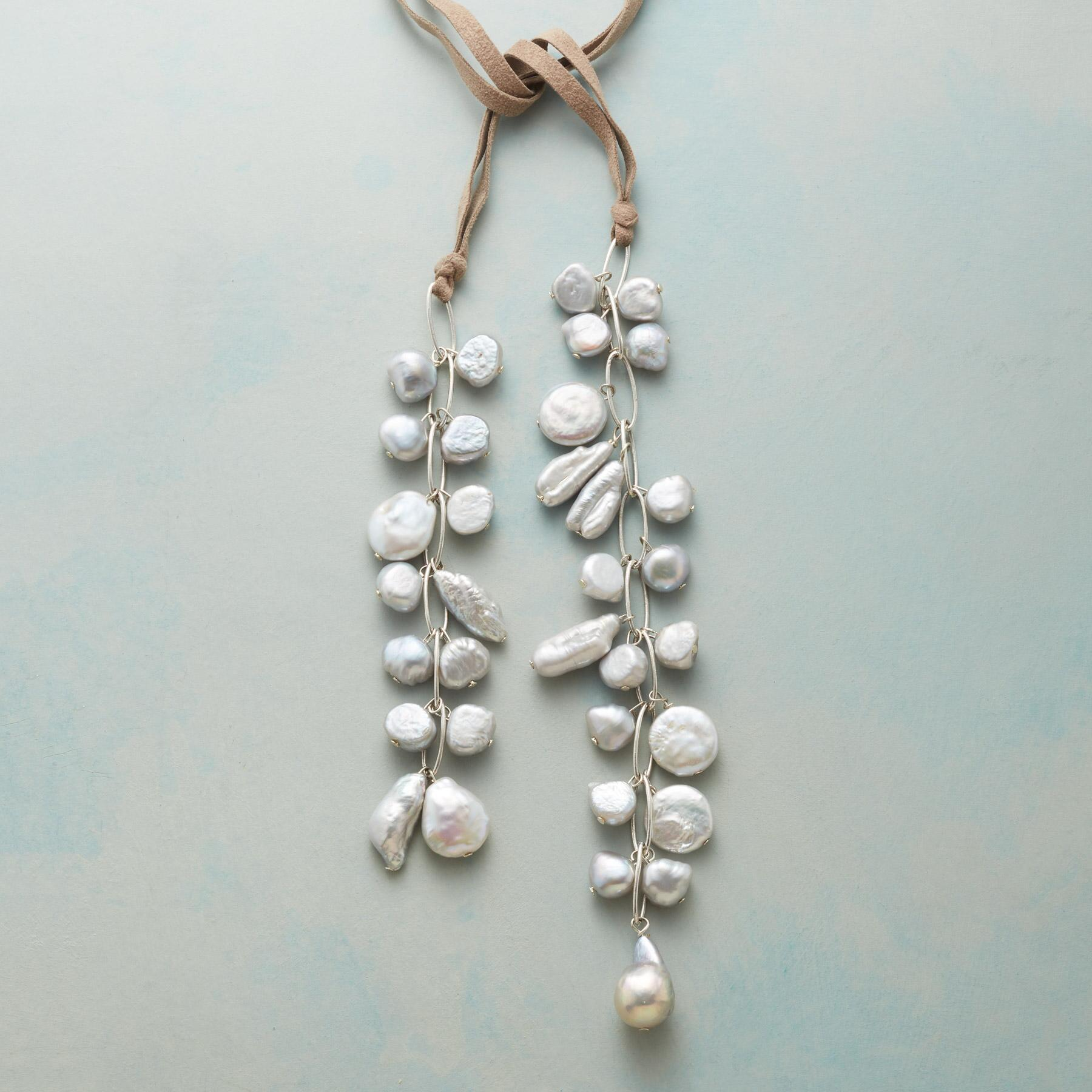 PEARL CASCADE LARIAT NECKLACE: View 1