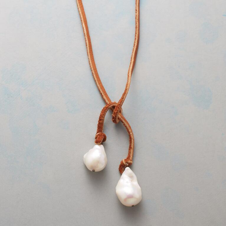 TWO OF A KIND LARIAT NECKLACE