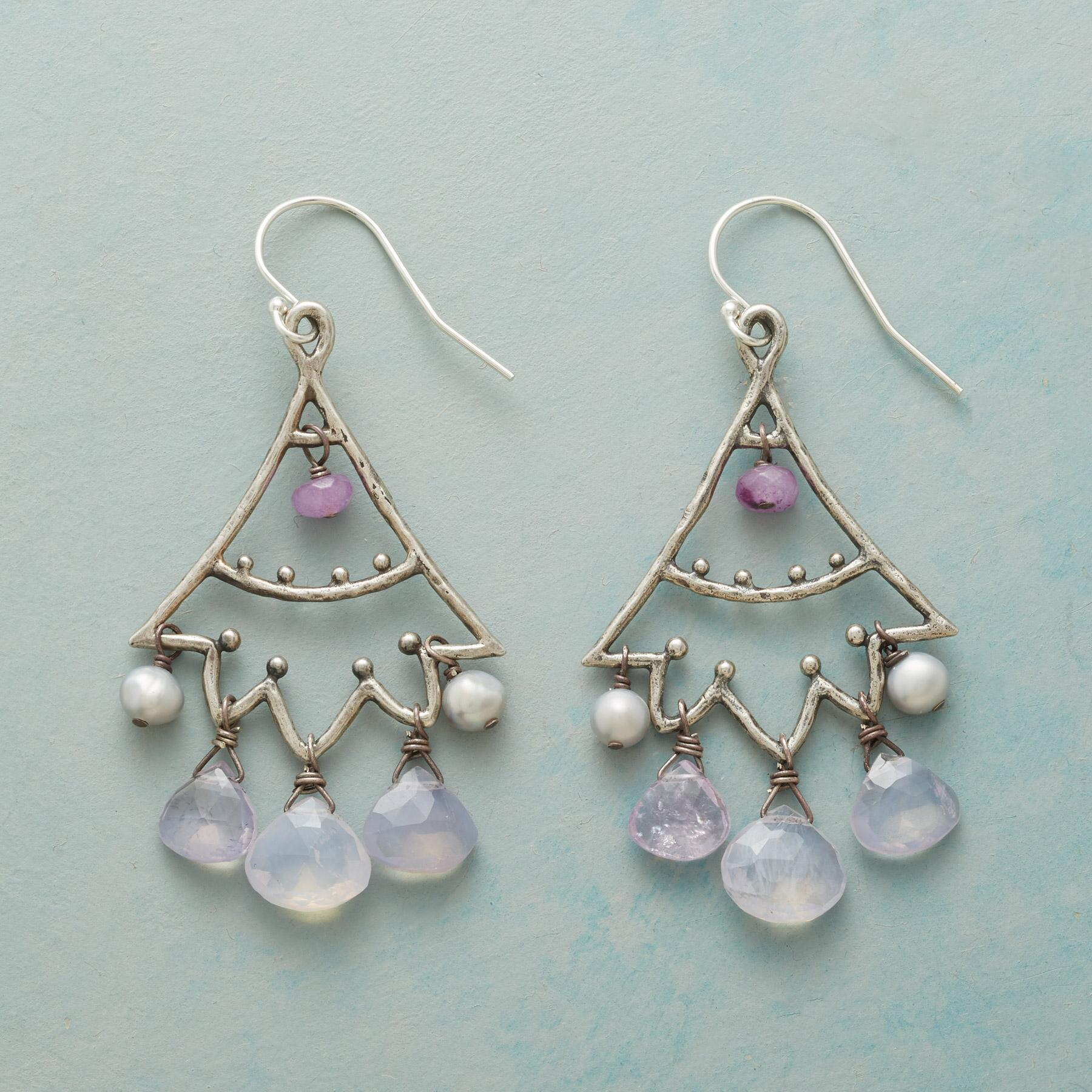 LILAC LUMIERE EARRINGS: View 1