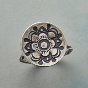 DISHED STERLING RING
