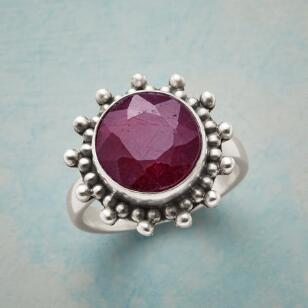 BUBBLED RUBY RING