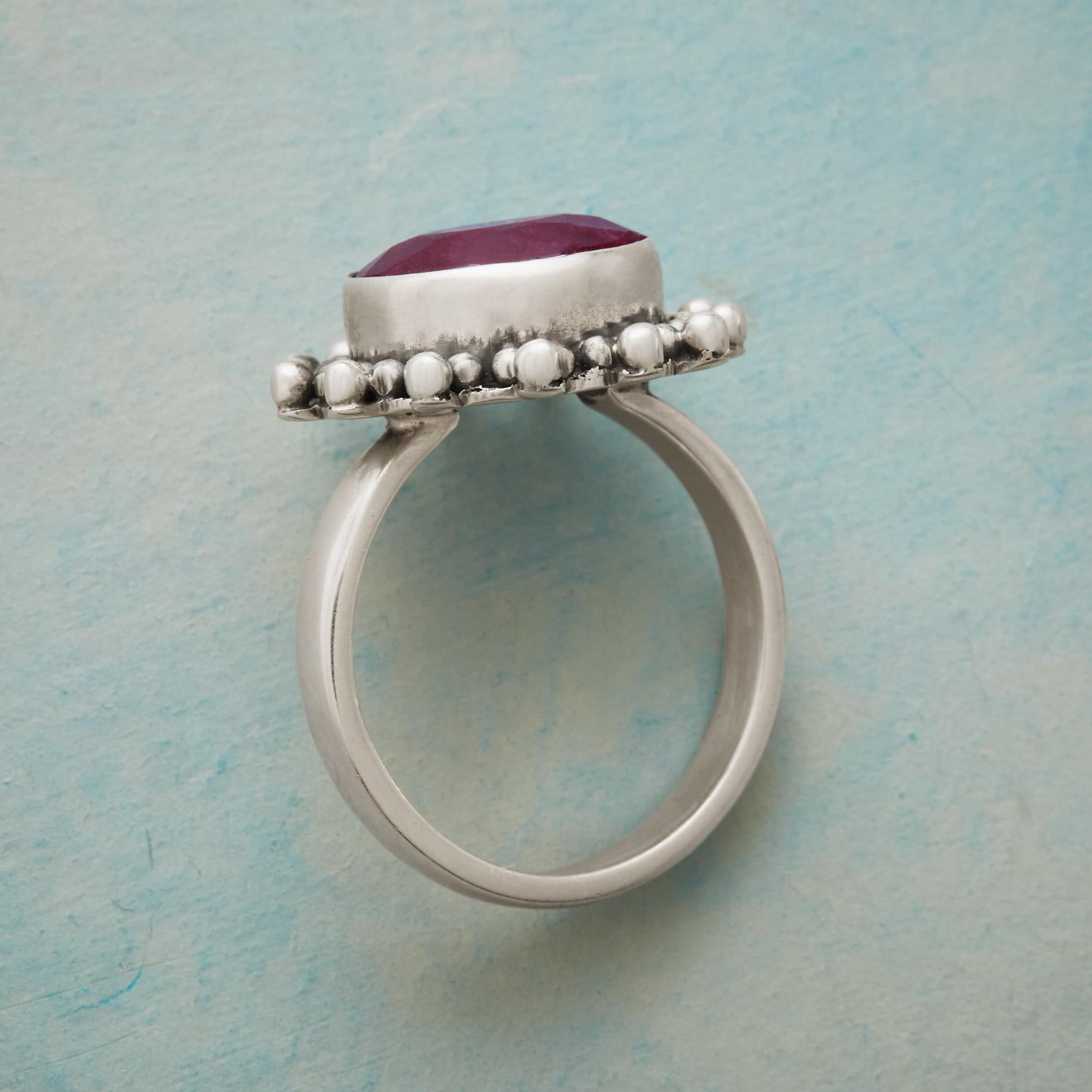 BUBBLED RUBY RING: View 2