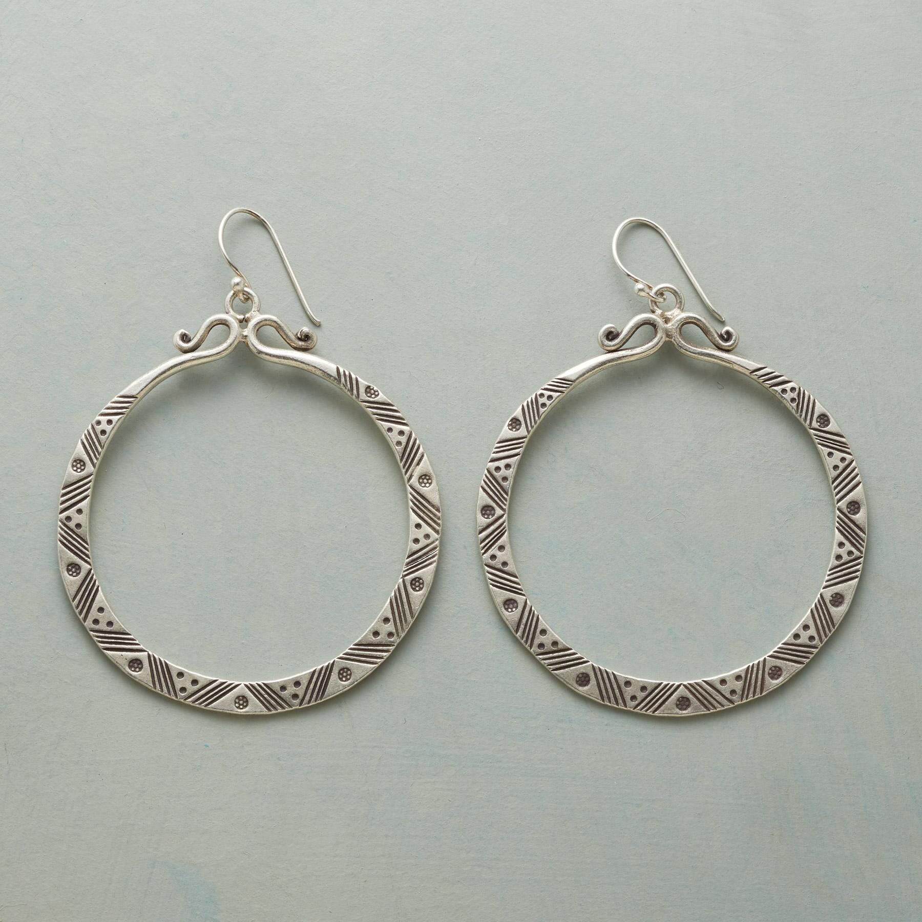 AKANA HOOP EARRINGS: View 1