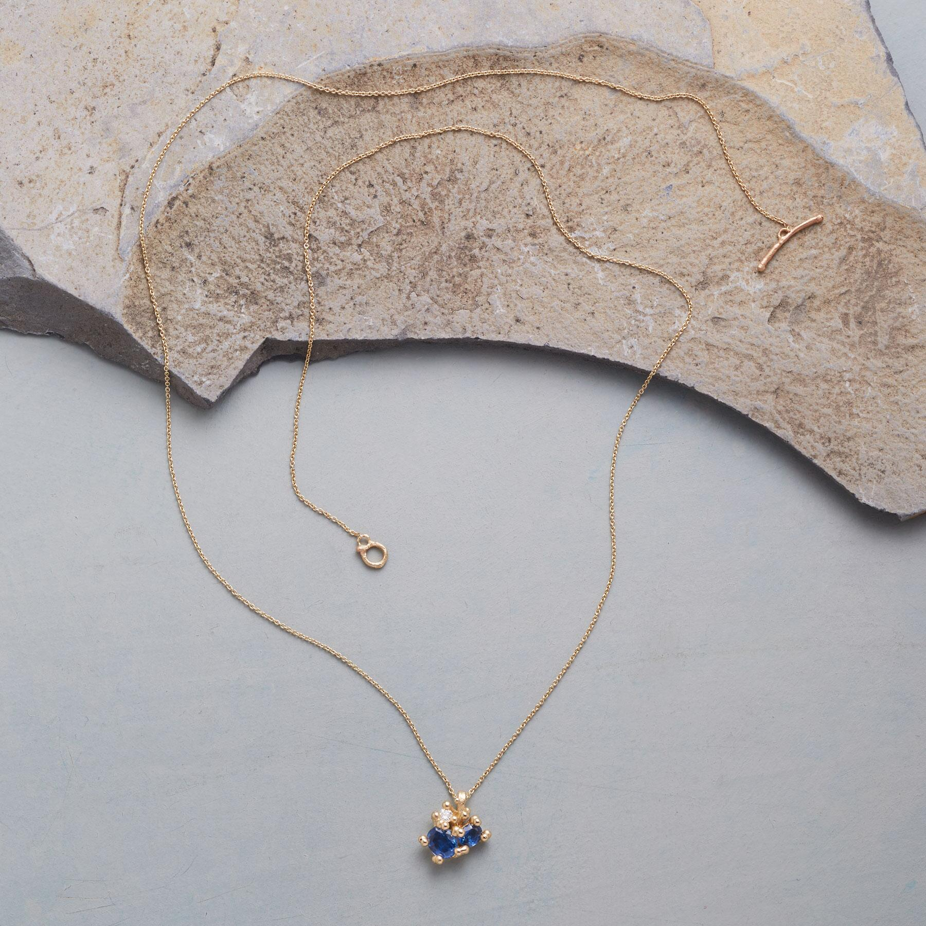DIAMOND IN THE BLUE NECKLACE: View 2