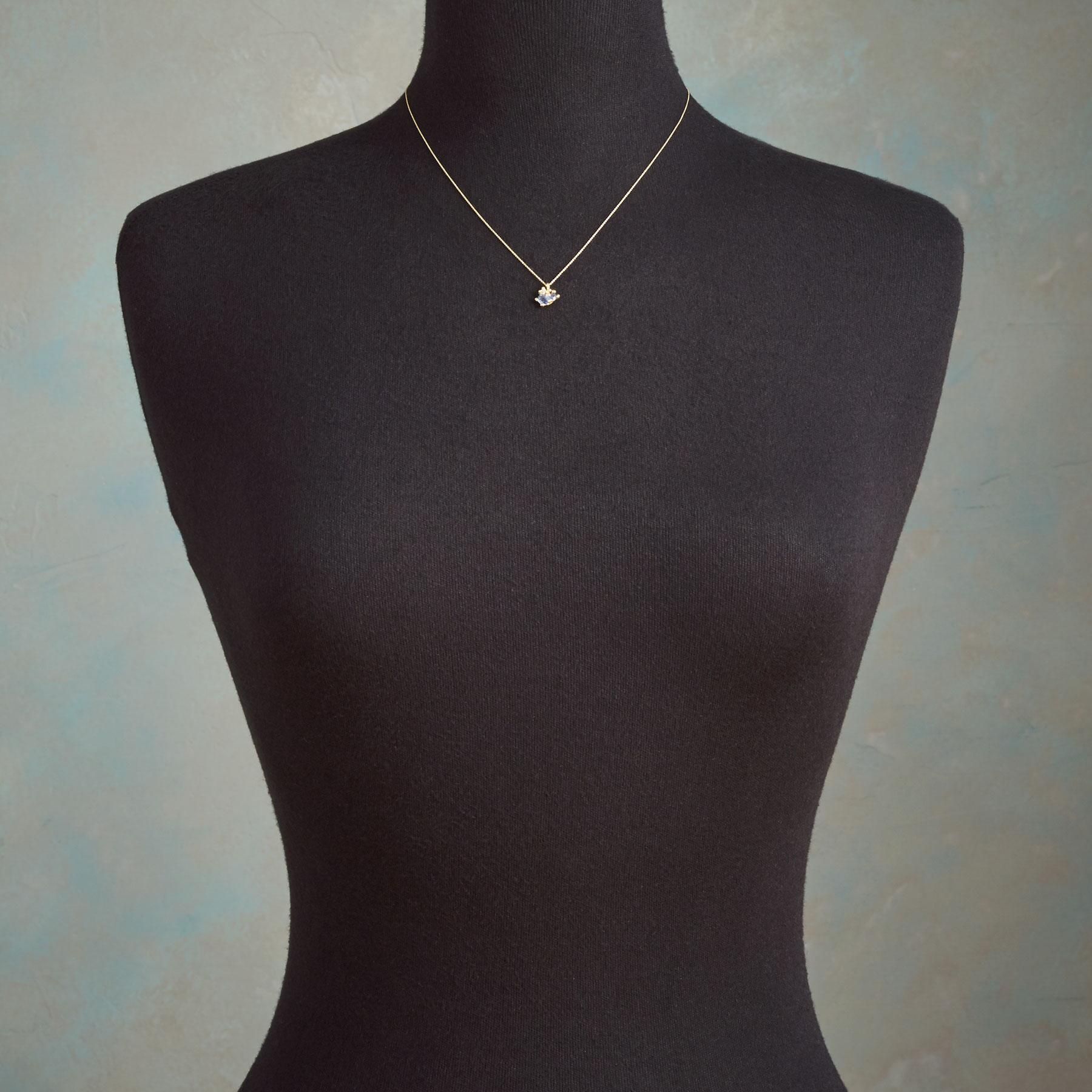 DIAMOND IN THE BLUE NECKLACE: View 4