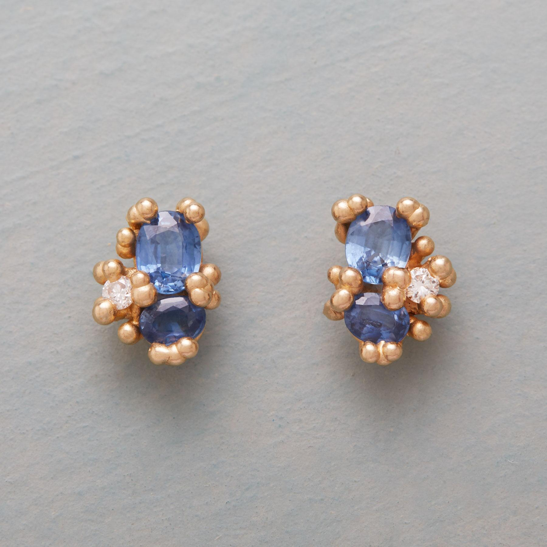 HIDDEN TREASURE SAPPHIRE EARRINGS: View 1