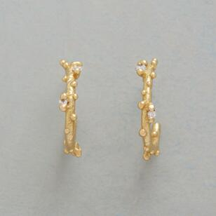DIAMOND DEWDROP HOOP EARRINGS