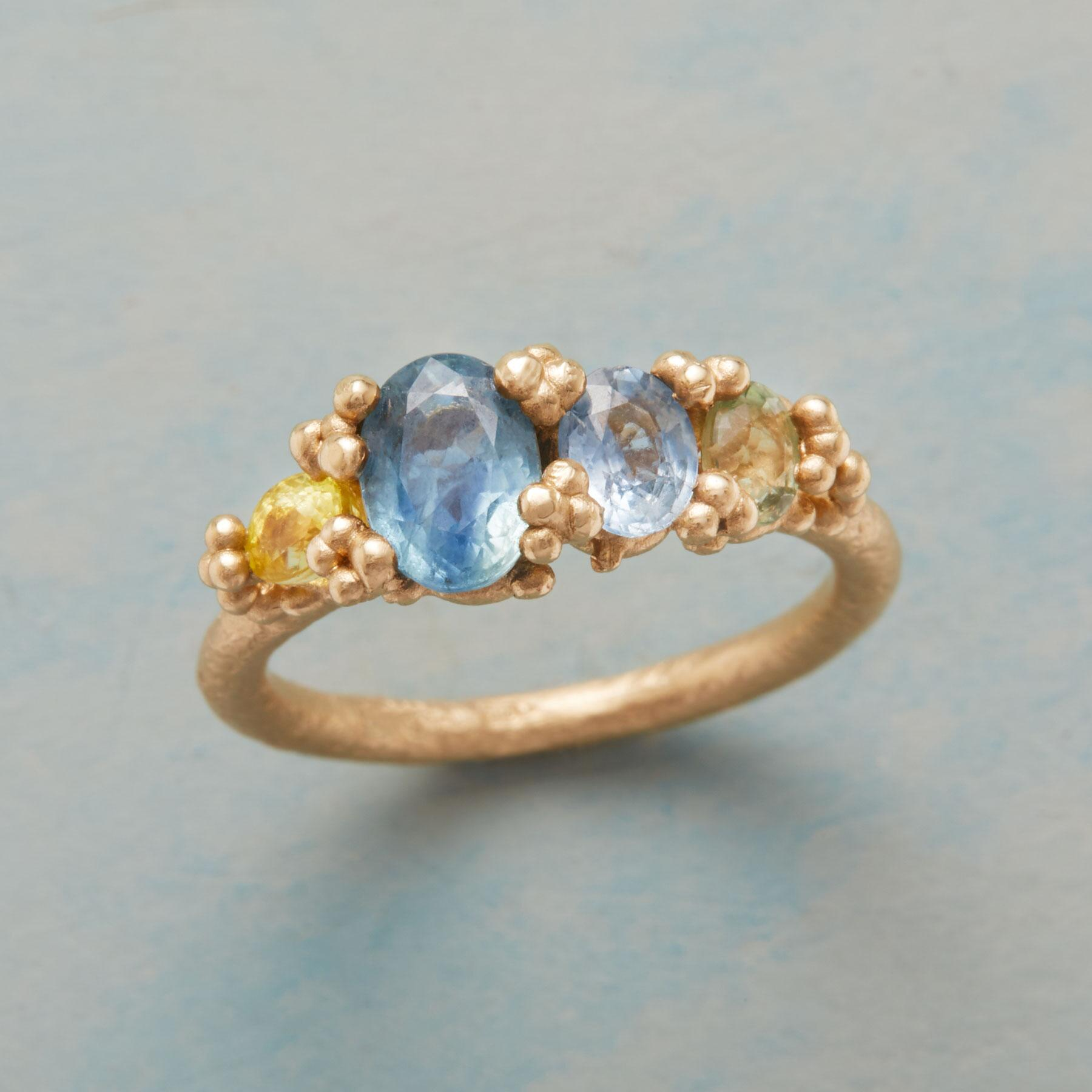SAPPHIRE SEASCAPE RING: View 1