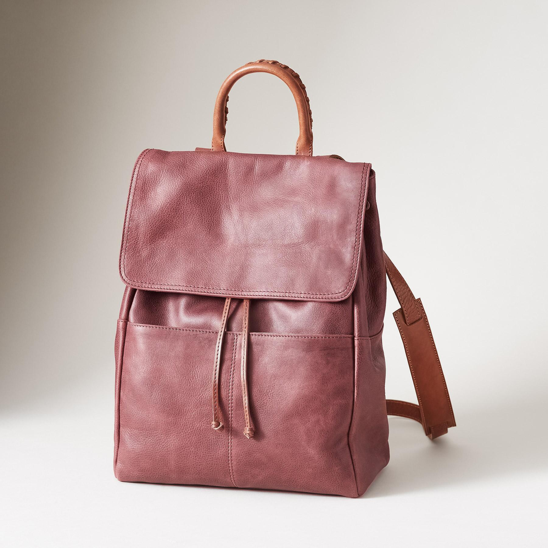 LEATHER SIMPLICITY BACKPACK: View 1