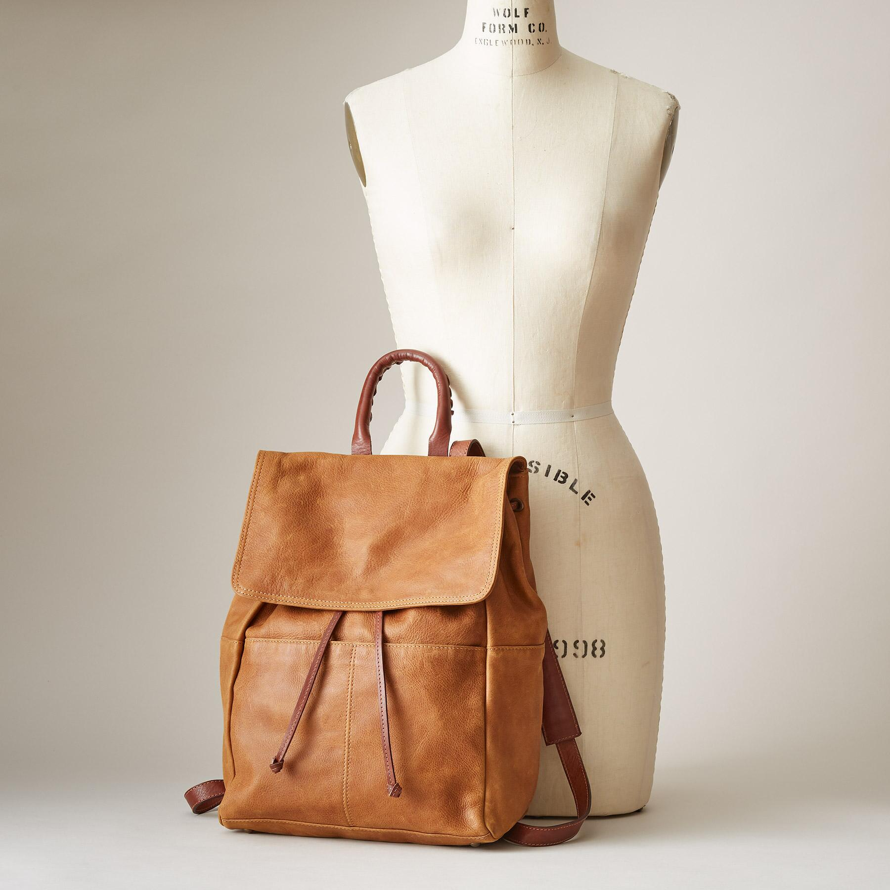LEATHER SIMPLICITY BACKPACK: View 4