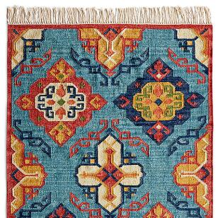 DIAMOND SUNRISE KILIM RUG, LARGE