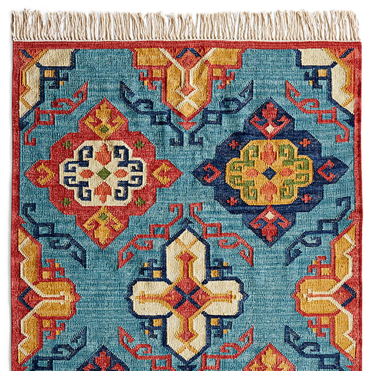 DIAMOND SUNRISE KILIM RUG, LARGE: View 1