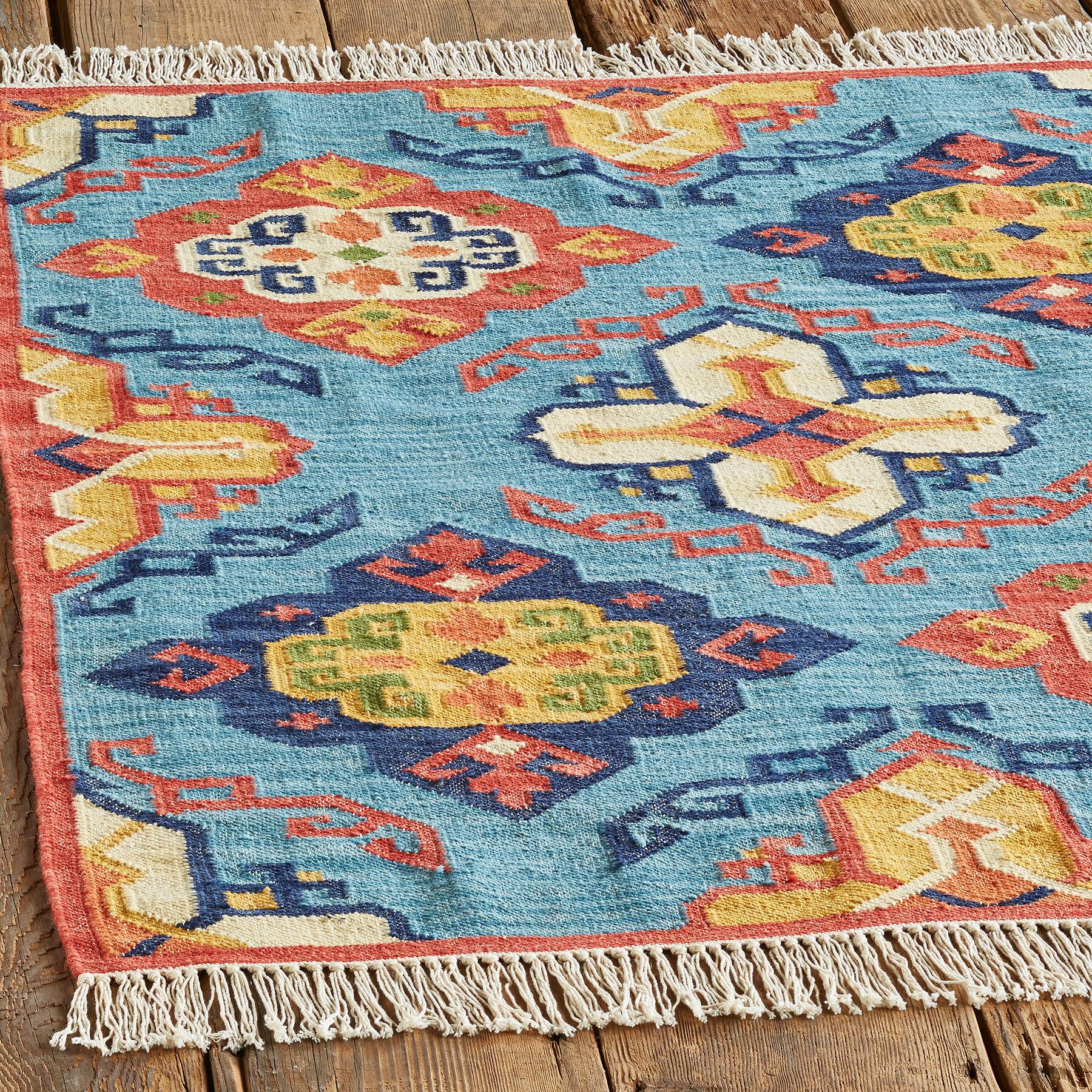 DIAMOND SUNRISE KILIM RUG, LARGE: View 2