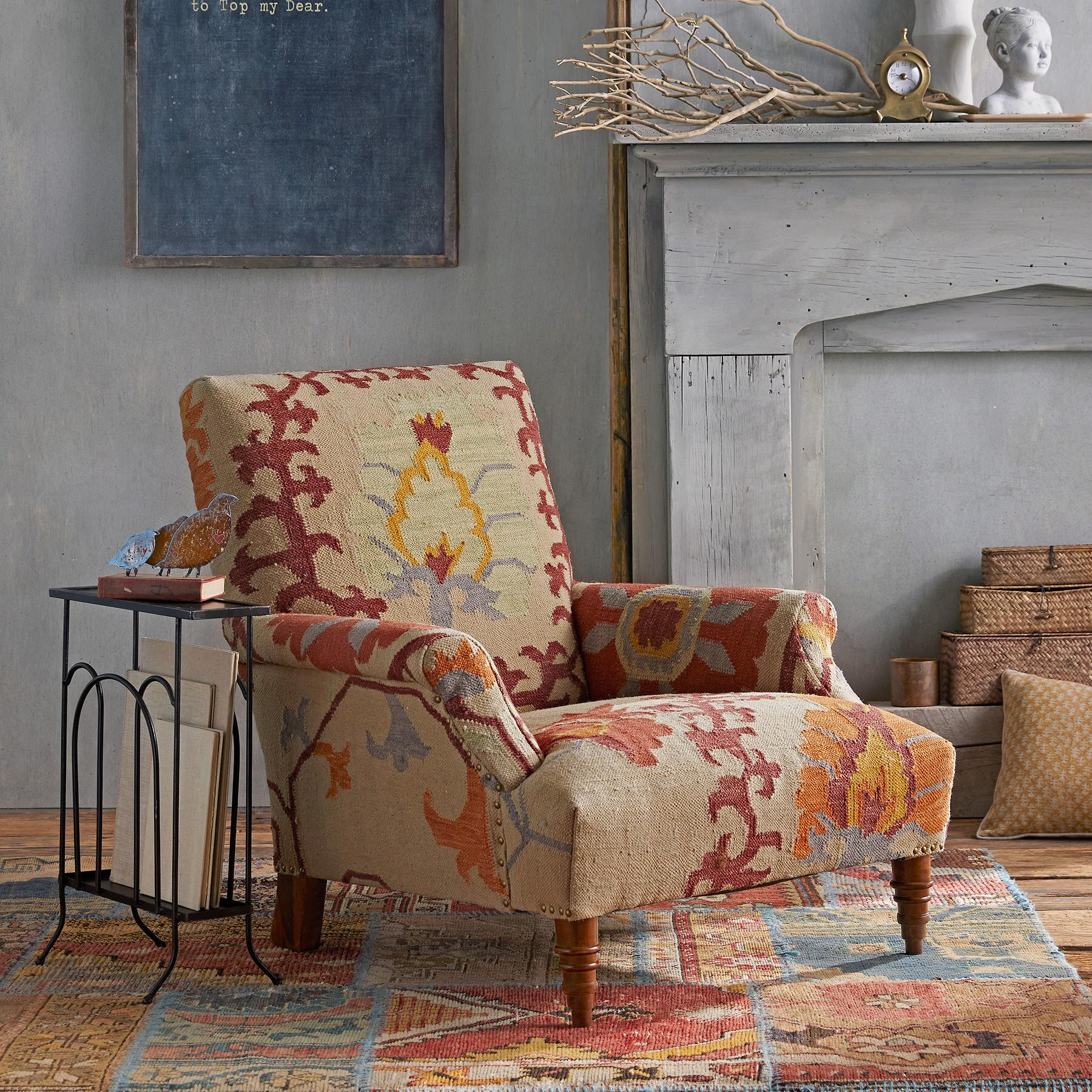 SENORAH KILIM CLUB CHAIR: View 1