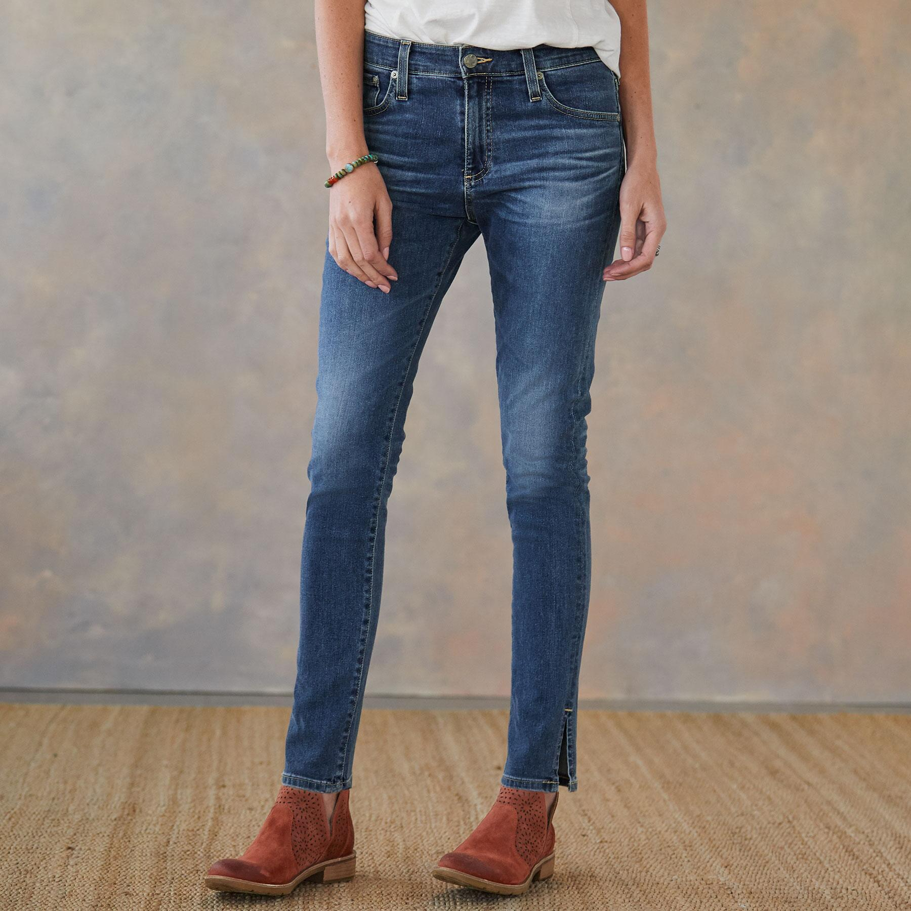 FARRAH SPLIT ANKLE JEANS: View 1