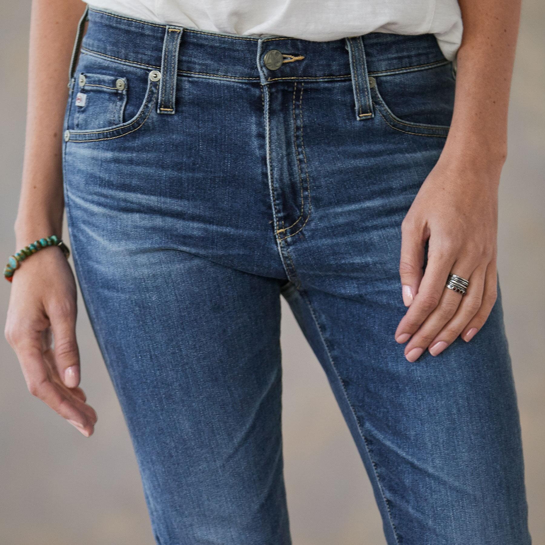 FARRAH SPLIT ANKLE JEANS: View 4