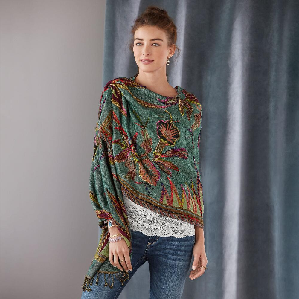 GARDEN OF EARTHLY DELIGHTS SHAWL MULTI