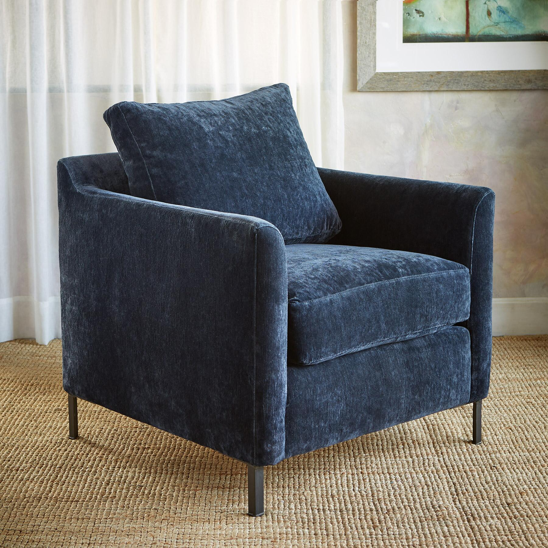 LOWELL VELVET CLUB CHAIR: View 2