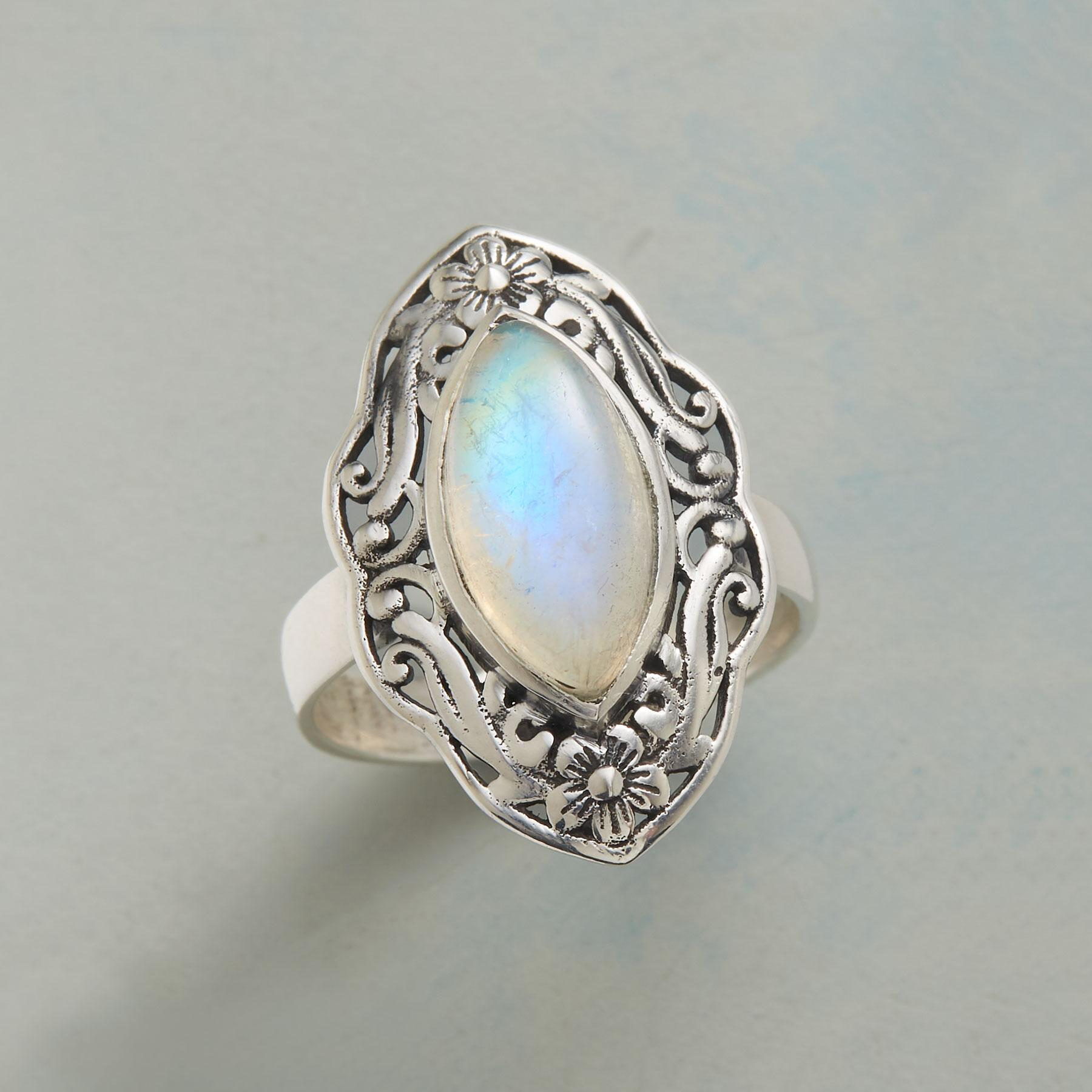 SWIRLED MARQUISE RING: View 1