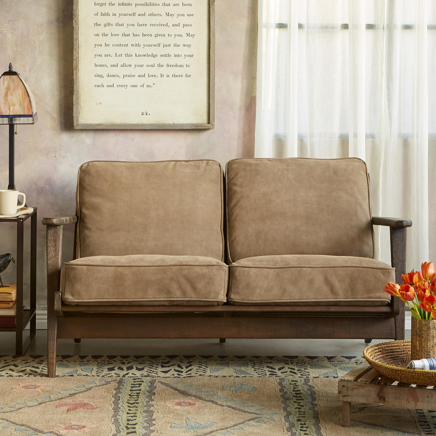 TIMPANOGOS SUEDE LOVESEAT: View 1