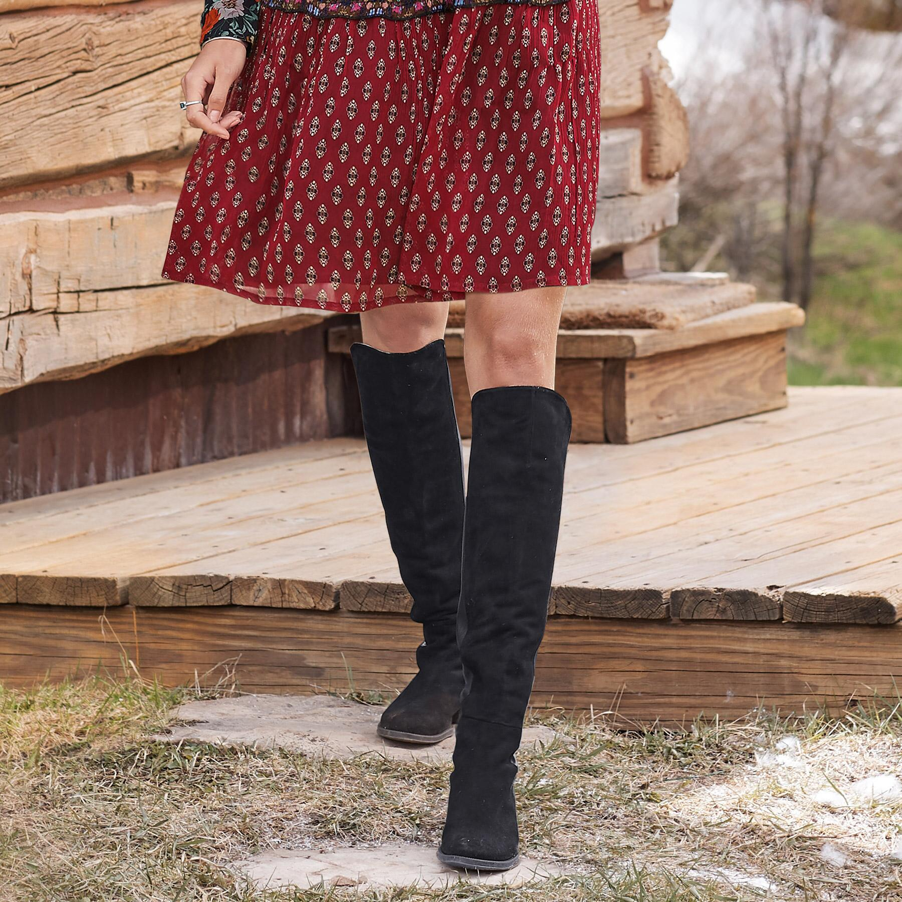 SUEDE SANDRINE BOOTS: View 2