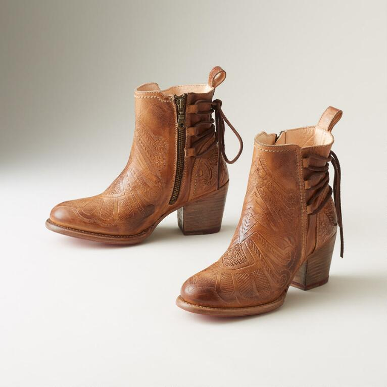 LINDA HAND-TOOLED BOOTS