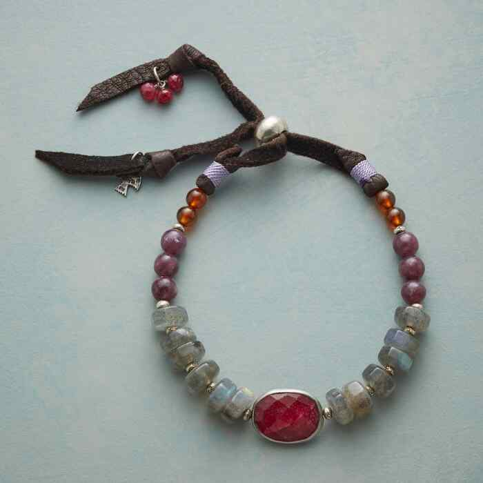 RUBY AND CAST BRACELET