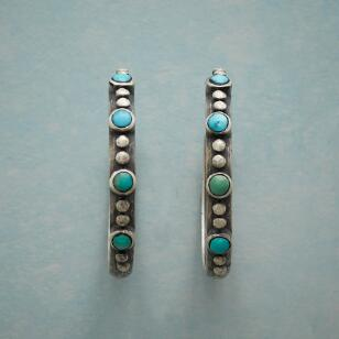 ONE BY TWO TURQUOISE HOOPS