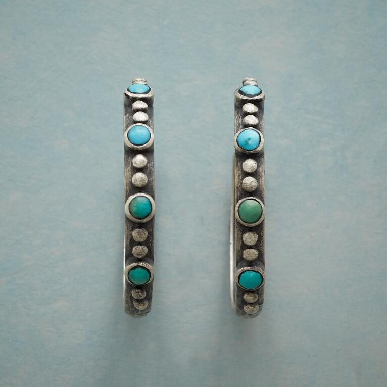 ONE BY TWO TURQUOISE HOOP EARRINGS