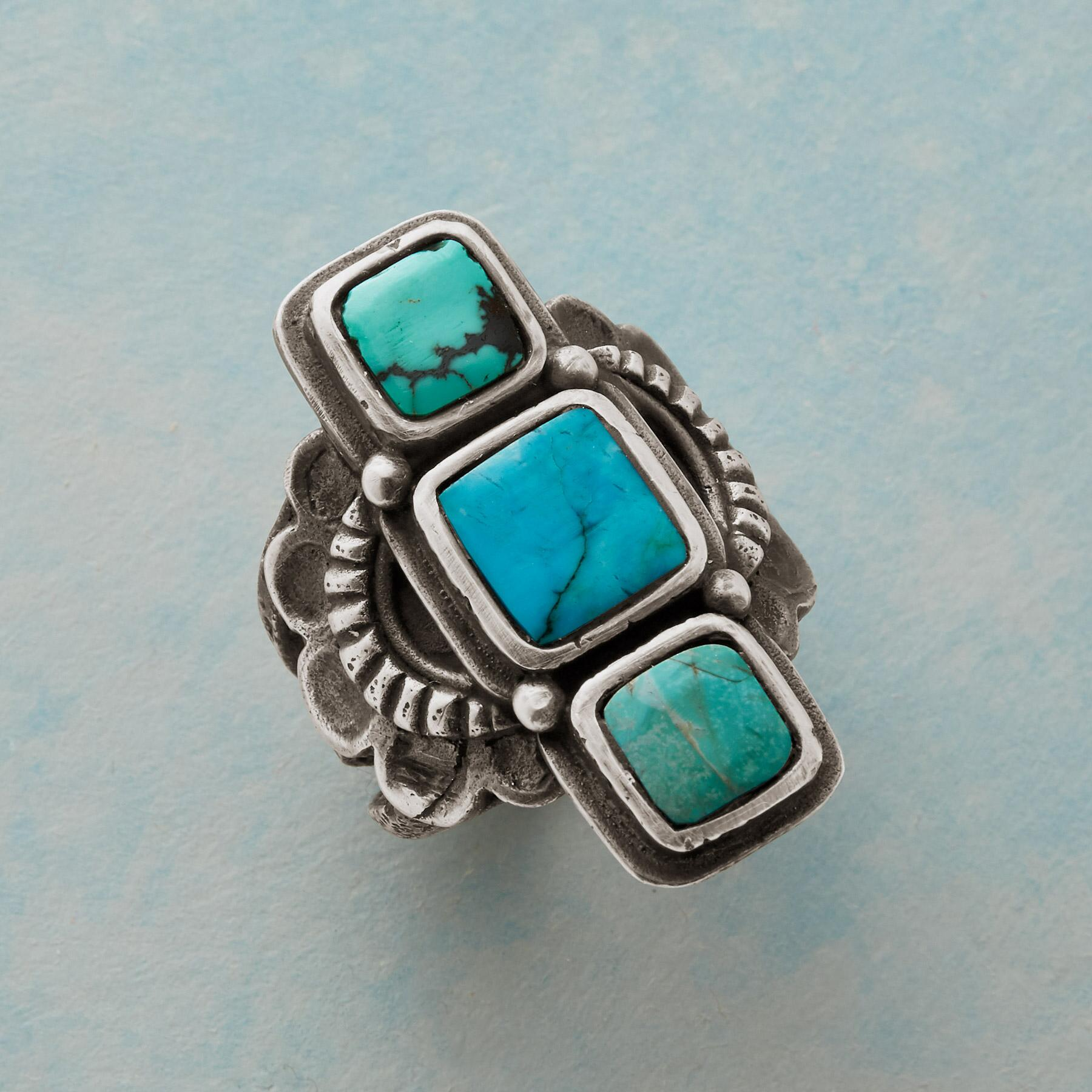 TURQUOISE TOWER RING: View 1